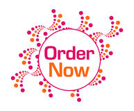 Order Now Pink Orange Abstract Dots Royalty Free Stock Image