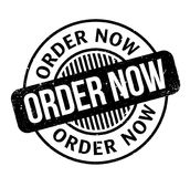 Order Now rubber stamp Stock Photo