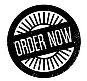 Order Now rubber stamp Stock Image