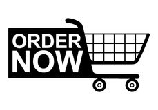 Order Now Shopping Cart Royalty Free Stock Photos