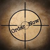 Order now target concept Royalty Free Stock Image