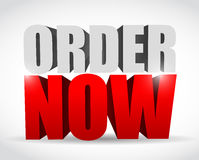 Order now text 3d message illustration design Royalty Free Stock Photos