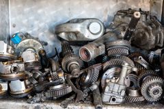 Order old car engine parts Royalty Free Stock Images
