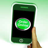 Order Online Button On Mobile Royalty Free Stock Photography