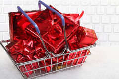 Order online Christmas gifts Stock Images