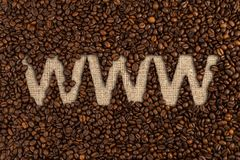 Order online coffee beans concept with www text Stock Photo