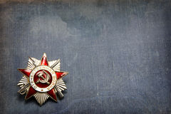 Order of the Patriotic War on a blue background Royalty Free Stock Image