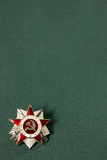 Order of the Patriotic War on a green background Stock Photos