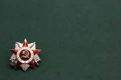 Order of the Patriotic War on a green background Stock Photography