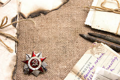 Order of the Patriotic War, old letters and photos Stock Photo