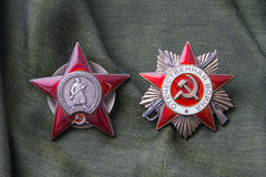 Order of the Red Star, Order of the Patriotic War Royalty Free Stock Photo