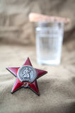 Order of the Red Star. Still life dedicated to Victory Day. 9 May Royalty Free Stock Photos