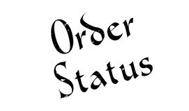 Order Status rubber stamp Stock Images