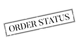 Order Status rubber stamp Stock Photo