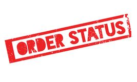 Order Status rubber stamp Royalty Free Stock Photography