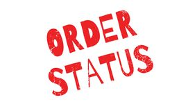 Order Status rubber stamp Royalty Free Stock Photos