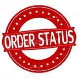 Order status. Stamp with text order status inside,  illustration Royalty Free Stock Image