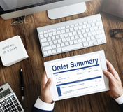 Order Summary Document Form Invoice Concept Royalty Free Stock Photo