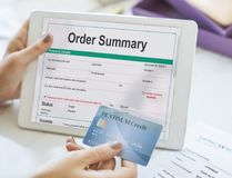 Order Summary Pay slip Purchase Order Form Concept Stock Photos