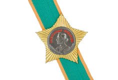 Order of Suvorov II degree on the tape. On a white background royalty free stock images