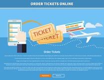 Order Tickets Online Stock Photo