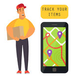 Order tracking delivery Royalty Free Stock Photo