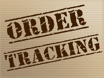 Order Tracking Indicates Shipping Traceable And Tracked Stock Photo