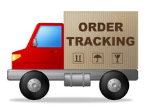Order Tracking Shows Courier Traceable And Post Royalty Free Stock Photography
