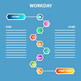 Order of Workday Template Royalty Free Stock Photos