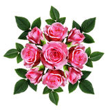 Ordered bouquet of pink rose flowers Royalty Free Stock Photo