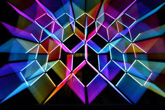 Ordered Chaos - Vivid Sydney 2015. SYDNEY, AUSTRALIA - JUNE 8, 2015;  Ordered Chaos is a set of led tubes that flicker and change colour at random, in The Rocks Royalty Free Stock Photo