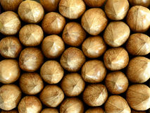 Ordered pecan nuts, background Stock Images