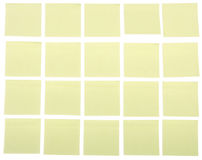 Ordered post its Royalty Free Stock Photography