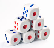 Ordered set of dice game Royalty Free Stock Image