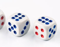 Ordered set of dice game Royalty Free Stock Images