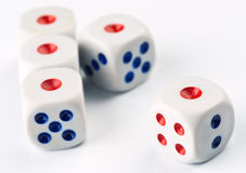 Ordered set of dice game Stock Photo