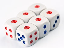 Ordered set of dice game Royalty Free Stock Photo