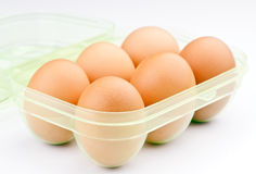 Ordered six eggs Royalty Free Stock Images