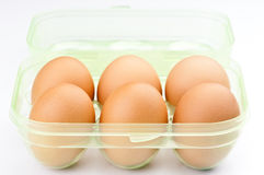 Ordered six eggs Royalty Free Stock Image