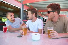 Ordering alcoholic and non-alcoholic drinks. Recreation stock images