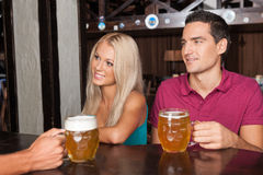 Ordering beer Stock Photos
