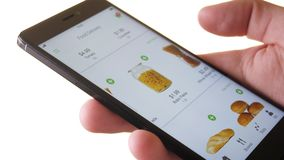Ordering food online using smartphone app