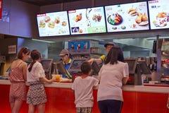 Ordering in KFC Royalty Free Stock Photo