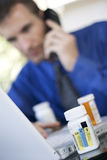Ordering medicine online Stock Photos