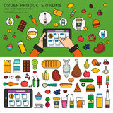 Ordering products online Royalty Free Stock Photo