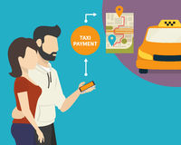 Ordering taxi Royalty Free Stock Images