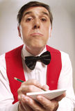 Ordering waiter. Stock Photography