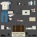 Orderliness ταξιδιού infographic Στοκ Εικόνα