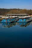 Orderly boats in Summer Palace Royalty Free Stock Photo