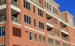Orderly lines of architecture in condominiums Stock Image